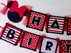 Minnie Mouse Birthday Banner by CelebrationBanner on Etsy, $30.00