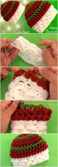 Discover thousands of images about Crochet Beanie Hat Marshmallow Stitch Crochet Baby Hats, Crochet Beanie, Crochet Clothes, Free Crochet, Knit Crochet, Basic Crochet Stitches, Crochet Blanket Patterns, Crochet Winter, Beanie Hats