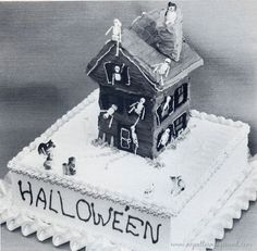 Vintage photo - Halloween cake