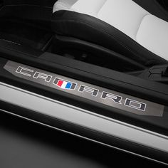 Infuse eyecatching style while protecting the entry way of your Camaro Coupe with these Illuminated Door Sill Plates The Camaro logo on these Chevrole 2019 Camaro, Camaro 2ss, General Motors, Cadillac, Side Door, Chevrolet Impala, Car Insurance, Sport Cars, Convertible