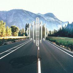 [Road] Visual rendering  #maxon #Cinema4d #3D #rendering #sphere #texturing #road #photoshop #Adobe #insta #instaart #instadays