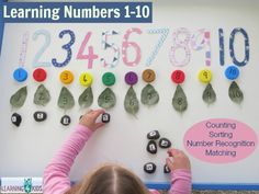 Learning to count 1- 10 and number recognition (preschool or kindergarten)