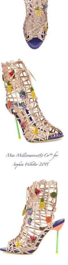 Sophia Webster 2015 'Delphine' Fruit Embellished Gladiator Sandal in Rose Gold