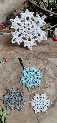 Crochet Snowflake Pattern, Crochet Shrug Pattern, Christmas Crochet Patterns, Crochet Snowflakes, Christmas Snowflakes, Christmas Tree, Crochet Things, Diy Crochet, Crochet Ideas