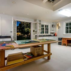 Art Studio Design Ideas small home art studio design with large windows and wooden floor Art Studios Design Pictures Remodel Decor And Ideas Page 6