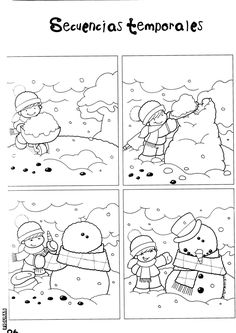 the honey patch - Rosella Horst - Álbuns da web do Picasa Preschool Christmas, Kids Christmas, Winter Activities, Activities For Kids, Snowman Games, Sequence Of Events, English Activities, Picture Story, Korean Art
