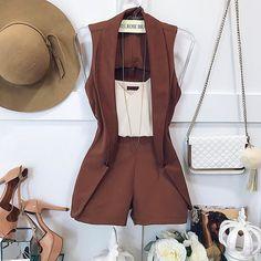 Prêt-à-porter-Outfits für Damen Short Outfits, Chic Outfits, Summer Outfits, Fashion Outfits, Summer Fashions, Love Fashion, Womens Fashion, Overall, Outfit Goals