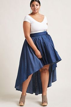 Shop plus size skirts at Forever 21 to find casual and professional styles you love. Browse plus size skirts in denim, mini, pencil, maxi & more. Chambray Skirt, Denim Mini Skirt, Mini Skirts, Plus Size Skirts, Plus Size Outfits, Minimalist Wardrobe, Chiffon Maxi, Denim Fashion, Capsule Wardrobe