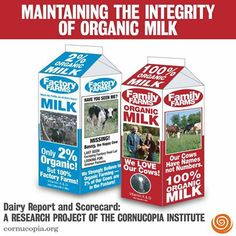 Maintaining The Integrity Of Organic Milk. Dairy Report and Scorecard: A Research Project of the Cornucopia Institute! More: http://www.cornucopia.org/2008/01/dairy-report-and-scorecard