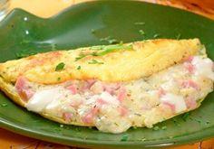 Receita de omelete de presunto e queijo