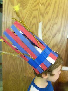 DIY 4th of July Firecracker Kids Hat Craft ~ Lille Punkin'
