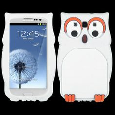 Samsung Galaxy S3 White Owl Pastel Skin Cover