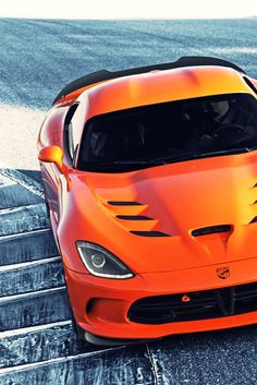Orange car Viper Time Attack