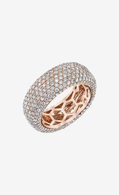 Rose Gold Diamond Eternity Band Ring | #jewelry_design
