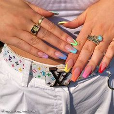 Awesome Acrylic Coffin Nails Designs In Summer - Pretty nails,Awesome Acrylic Coffin Nails De. - Awesome Acrylic Coffin Nails Designs In Summer – Pretty nails, - Acrylic Nails Coffin Short, Simple Acrylic Nails, Best Acrylic Nails, Colorful Nails, Acrylic Nail Designs For Summer, Coffin Nails Designs Summer, Coffin Nail Designs, Nail Ideas For Summer, Simple Nails