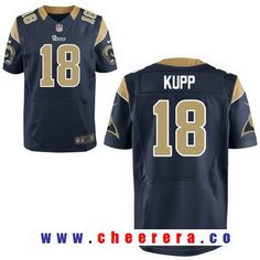 f9d9740b Men's 2017 NFL Draft Los Angeles Rams #18 Cooper Kupp Navy Blue Team Color  Stitched