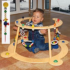 Hess wooden baby gym & walker : wooden toys toys & fun : Baby Butt onlineshop