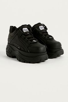 new concept bac2c 9a18f Buffalo Black Chunky Platform Trainers Platform Sneakers, Sko Sneakers, Sko  Hæle, Hæle,