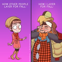 13 Comics That Explain Why You're Totally Nuts For Fall Super Funny, Funny Cute, The Funny, Comics Love, Funny Comics, Adam Ellis Comics, Funny Jokes, Hilarious, Ugly Outfits