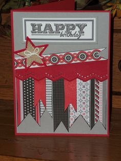 banner birthday card.  so cute.  must try