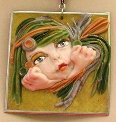 Green Goddess Pendant Necklace Jewelry Handmade  http://www.ebay.com/itm/150847487158?ssPageName=STRK:MESELX:IT&_trksid=p3984.m1558.l2649