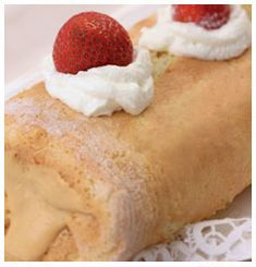 This Caramel Swiss Roll is the ideal teatime treat when you need to whip something up in a flash. Sugar Sprinkles, Fresh Cream, Kitchen Recipes, Tooth Cake, Kos, South African Recipes, A Food, Good Enough To Eat, Caramel