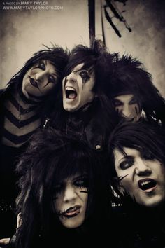 1. Andy and Jinxx scare me in this picture.  2. What is Ashley doing?…
