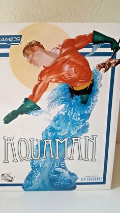 "DC DIRECT DYNAMICS ""AQUAMAN"" Tim Bruckner RESIN STATUE - FIGUR NEU & OVP Aquaman, Statue, Comic, Resin, Ebay, Movie Posters, Movies, Stuff To Buy, Art"