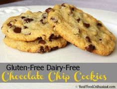 Gluten-Free, Dairy-Free Chocolate Chip Cookies Recipe | RealFoodEnthusiast.com