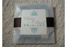 Chic Chocolate Wedding Favors by BGDesignstudio on Etsy, $1.99