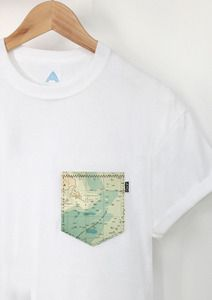 Hand made Island Pocket Tee. Limited edition.One off uni-sex tee.Hand wash only.