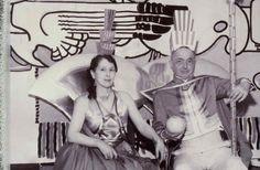 "Eliel and Loja Saarinen at the ""Crandemonium"" ball, They're dressed as Cranbrook. Rya Rug, Machine Age, Space Age, Costume Design, The Neighbourhood, Layout, Templates, People, Fashion"