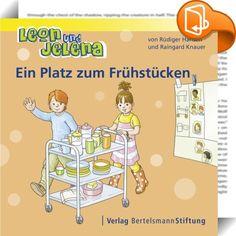 Leon und Jelena - Ein Platz zum Frühstücken :: Die beiden Hauptfiguren Leon und Jelena gehen gemeinsam in den Kindergarten. Hier dürfen sie bei vielen Dingen des Alltags mitentscheiden und mithandeln, so zum Beispiel bei der Frage, wie man das Frühstück besser organisiert, oder wie man den Streit um die Dreiräder, die viele Kinder gleichzeitig benutzen möchten, löst. Dadurch lernen sie viel darüber, wie man eine Gemeinschaft so gestalten kann, dass alle zu ihrem Recht kommen. Die e...