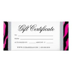 24 best salon gift certificates images gift card template gift