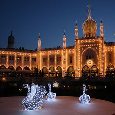 Tivoli is dressed in Christmas mood from late November till Christmas. And every time it is beautiful. Copenhagen Denmark