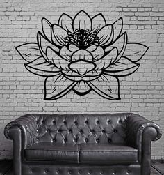 Lotus Flower Buddhia Yoga Studio Meditate Decor Wall Sticker Vinyl Decal (z2906)