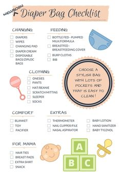 How to Pack the Perfect Diaper Bag for a Newborn