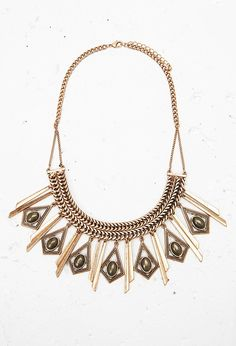 15 Faux Stone Statement Necklace - Accessories - 1000163660 - Forever 21 EU English
