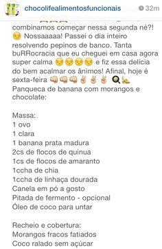 2- panqueca de banana com morango e chocolate