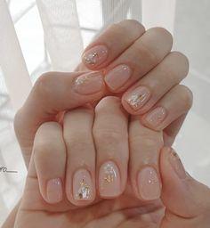 Soft Nails, Pastel Nails, Simple Nails, Nail Manicure, Gel Nails, Cute Nails, Pretty Nails, Asian Nails, Korean Nail Art