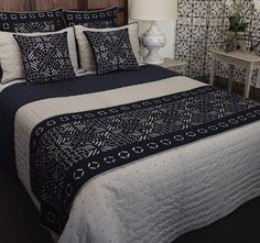 Como Cut Work Bed Runner Navy and Natural - Manchester Warehouse, Kogarah Sydney Coverlet Bedding, Comforter Sets, Comforters, Bed Runner, Cut Work, Cushions, Blanket, Dry Cleaning, Navy
