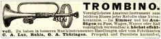 Original-Werbung/ Anzeige 1897 - TROMBINO / LUX - RUHLA - ca. 90 x 20 mm
