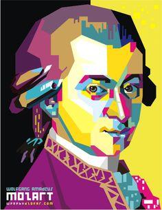 WA. Mozart POP ART by ndop.deviantart.com on @deviantART