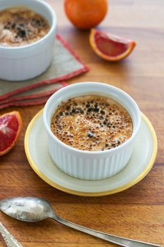Blood Orange Creme Brûlée