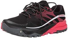 39beeaba95d5 Merrell Women s All Out Charge Trail Running M US  03962 Merrell Women s  All Out Charge Athletic Shoes - Black Geranium -