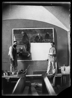 Photographs from the personal archive of the Finnish symbolist painter Hugo Simberg, offering a fascinating insight into the artist's working practices and an intimate glimpse into daily life with family and friends. Modern Photographers, Supernatural Beings, Gallery Website, Wedding Girl, Heaven And Hell, Unique Paintings, Famous Words, Vegetable Garden Design, National Archives