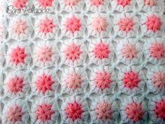 Manta de flores puff para bebé