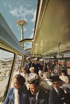1962: Riding in Red Train during the World's Fair