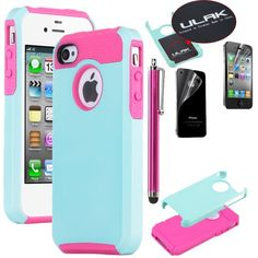 Pandamimi ULAK 2 In 1 Hybrid Hot Pink TPU and Aqua Blue Hard Case Cover For iPhone 4 4S with Screen Protector and Stylus ULAK,http://www.amazon.com/dp/B00CIPGEYG/ref=cm_sw_r_pi_dp_cqjztb11WDNC2H2M