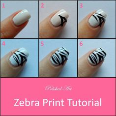 Zebra Nail Art Designs Beginners - Among the hottest general trends in nail trend is yellowish acrylic nails. It really is such a flexible color that it co Zebra Nail Art, Zebra Print Nails, Animal Nail Art, Nail Art Diy, Diy Nails, Diy Zebra Nails, Zebra Stripe Nails, Striped Nails, Black Nails
